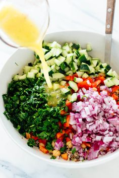 Quinoa Salad Recipe - Cookie and Kate - Learn how to make amazing quinoa salad at ! -Favorite Quinoa Salad Recipe - Cookie and Kate - Learn how to make amazing quinoa salad at ! Best Quinoa Salad Recipes, Healthy Salads, Healthy Eating, Healthy Recipes, Spinach Quinoa Salad, Simple Salad Recipes, Vegetarian Quinoa Recipes, Quinoa Chickpea Salad, Greek Quinoa Salad