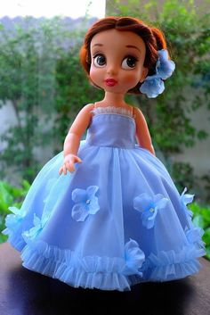 Flower princess dress (sky blue) fits to Disney animator doll 16 product includes: -long dress -petticoat  * Doll and other accessory are not included.  Worldwide shipping from Thailand via Thai post international air mail with registered tracking number. Estimated shipping times 10-20 days depends on your locations.