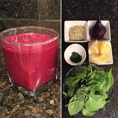 #superfoodsmoothie #superfoods #smoothies #vitamix #eatclean #eatinghealthy #lifestyle #gethealthy #getfit #healthyoptions #livelife #health #beetsmoothie #spinach #chlorella #lemon #liveclean #hemppowder  Enjoy!  1 cup spinach  1 lemon 3 tbsp hemp powder 1 tsp chlorella powder 8 oz water 1 beet (bake beet wrapped in foil paper for 45 min at 375 degrees. This enhances flavor and gives creaminess to your smoothies) Ice by vitasmoothie