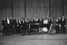 The composers, poets, pianists, and baritones on stage at Alice Tully Hall before the premiere of the AIDS Quilt Songbook – June 4, 1992.