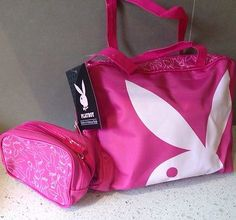 PLAYBOY SET OF 2 TOILETRY & MAKE UP BAG BRAND NEW CARRY HANDLE CHEAP POST