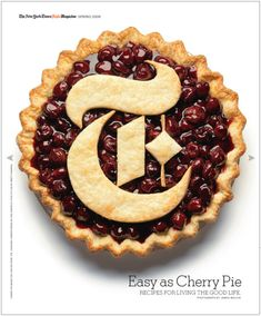 Easy as Cherry Pie - The New York Times Style Magazine Food Typography, Typography Design, Branding Design, T Magazine, Magazine Design, Magazine Covers, New York Times Magazine, I Love Ny, Types Of Lettering