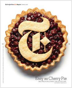 Typography pie by Julien Vallée