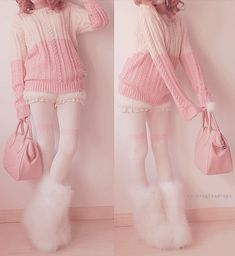 "kawaii fashion - want everything she is wearing, except the furry boots thingy X""D <3"