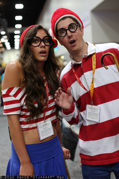 Wenda and Waldo costume! I like this, maybe I'll try it...just not showing so much skin! :)