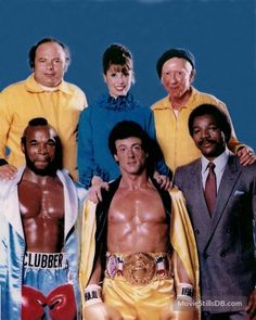 A gallery of Rocky III publicity stills and other photos. T, Talia Shire, Carl Weathers and others. Sylvester Stallone, Rocky Film, Rocky 3, Epic Movie, Movie Tv, Burt Young, Stallone Rocky, Apollo Creed, Carl Weathers