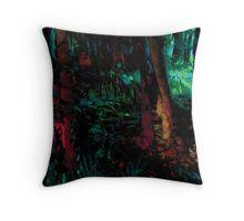 Flora Celeste Jade Forest  Throw Pillow
