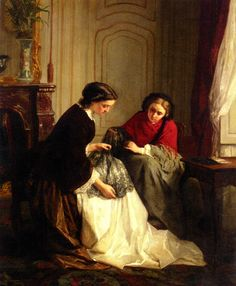 Jean Baptiste Trayer - The lacemakers
