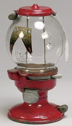 Columbus, Gum Ball, Model A, 1 Cent, 15 inch A Columbus Model A one cent gumball machine with star embossed globe