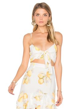 For Love & Lemons Limonada Crop Top in Lemon