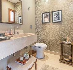 Ótima ideia para lavabo  Um luxooo!!!  - #lavabo #design #decoração #arquitetura #novidades #Instagram #euqueronaminhacasa