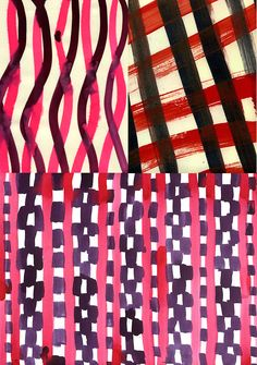 Leanne Shapton  Patterns in Paint and Much More... print pattern