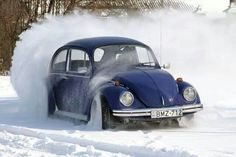 VW Beetle playing in the snow...mine drives like a tank!