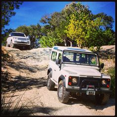 Off-road adventures in Land Rovers