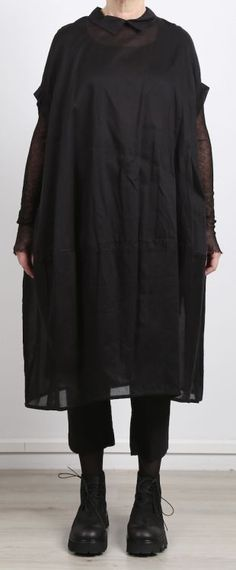 rundholz - Kleid in Ballonform Cotton Oversize black - Sommer 2017