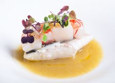 Sea Bass Recipe with Fennel and Apple Sauce - Great Italian Chefs