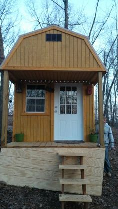 Our tiny cabin Tiny House, Shed, Outdoor Structures, Cabin, Homes, Projects, Log Projects, Houses, Blue Prints