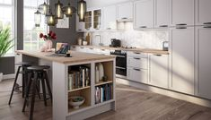 Dunham Dove Grey Kitchen