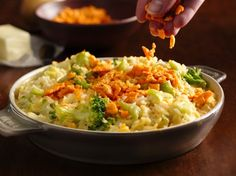Creamy Cheese-Broccoli Rice Bake - Bake rice, Green Giant® Valley Fresh Steamers® broccoli and Progresso™ Recipe Starters™ cheese sauce to make this cheesy dinner.