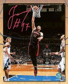 3fb28747f00 Jonas Valanciunas Toronto Raptors Autographed Slam Dunk Photo