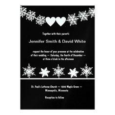 Snowflakes Winter Wedding Invitation