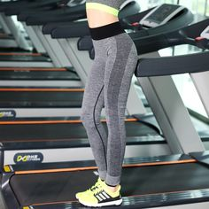 New Autumn Women Fitness Pants Female Stretch Leggings Casual Quick Dry Breathable Striped Pants