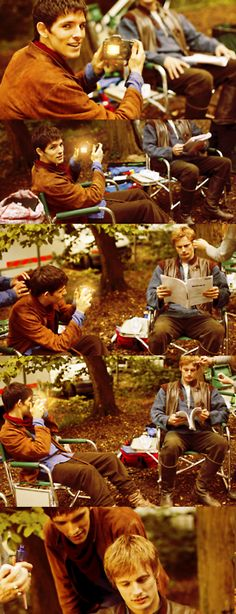 Colin Morgan and Bradley James. <3