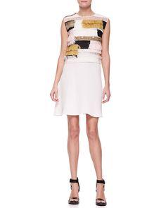 3 1 Phillip Lim Sleeveless Raffia Patchwork Dress http://sharonruizstuff.tumblr.com/post/84723141850/3-1-phillip-lim-sleeveless-raffia-patchwork-dress