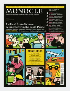 Monocle Magazine. Illustration by Rami Niemi