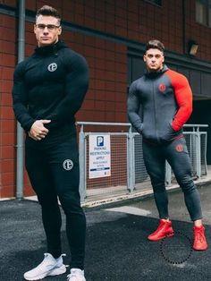 2017 Men's Shark track suit is suitable for men's casual men's fall suit men's Bodybuilding leisure suit Sport Outfit, Sport Wear, Moda Academia, Gym Tracksuit, Fitness Bodybuilding, Pantalon Costume, Moda Casual, Mode Hijab, Mens Suits