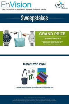 I claim the Evision sweepstakes's and prizes