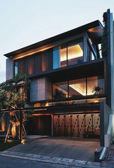 Dope or nope? The Akasia House is designed by Nataneka Architects and is located in // Photo by Martin Westlake - Architecture and Home Decor - Bedroom - Bathroom - Kitchen And Living Room Interior Design Decorating Ideas - Modern Exterior, Exterior Design, Ranch Exterior, Garage Exterior, Craftsman Exterior, Exterior Colors, Residential Architecture, Interior Architecture, Concrete Architecture
