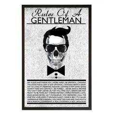 Lámina enmarcada Rules Of A Gentleman de Maison Privée