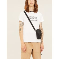 Ck Jeans Logo-print Cotton-jersey T-shirt In White Ck Calvin Klein, Calvin Klein Jeans, Ck Jeans, Printed Cotton, Slim, How To Wear, T Shirt, Clothes, Logo