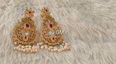 Gold Earrings Designs, Gold Jewellery Design, Silver Earrings, Gold Designs, Necklace Designs, Gold Necklace, Silver Wedding Jewelry, Silver Jewellery Indian, Silver Jewelry