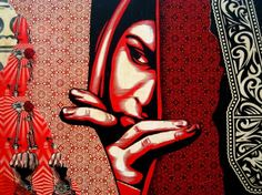 Wynwood Walls, Street Art, Miami Art District. Shepard Fairey.
