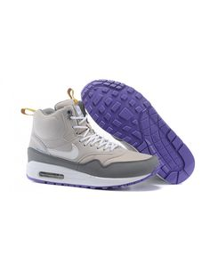 Women s Nike Air Max 1 Mid Sneakerboot LB QS Boots Light Grey Grey White 631aea4d00