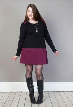 Ponte Jersey Colourblock Pocket Tunic Dress