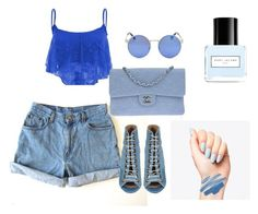 """Blue :D"" by eldina-salihovic ❤ liked on Polyvore featuring Levi's, Barbara Bui, Chanel and Marc Jacobs"
