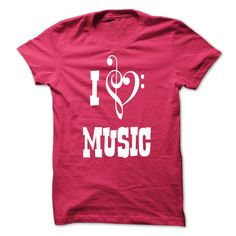 i love music T-Shirts, Hoodies. CHECK PRICE ==► Funny Tee Shirts
