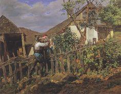 The neighbors, 1859 - Ferdinand Georg Waldmüller