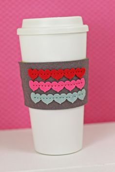 Heart Coffee Sleeve by Erin Lincoln for Papertrey Ink (October 2013)