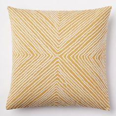 Diamond Dot Crewel Pillow Cover - Golden Gate   west elm