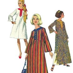 McCalls 8230 1960s Misses Pullover Beach Robe Caftan Tent Dress Patternwomens vintage sewing pattern  by mbchills