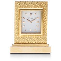 peter Byworth Vintage Cartier Gold Desk Clock found on Polyvore