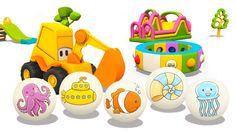 Cartoni animati per bambini: L'escavatore Max e gli animali marini