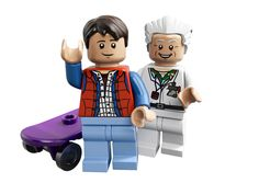 Marty McFly Back to the Future Minifigure with Alternate Head NEW Mini figure