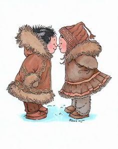 Eskimo kisses - would be fab great for making cards for friends