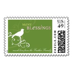 PERSONALIZED POSTAGE STAMP :: whimsicalbird 2 $10 OFF FOR A SHEET OF POSTAGE STAMPS TODAY!!!!---- USE CODE:  ZWEEKOFDEALS