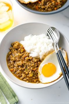 Keema Curry is an Indian curry dish made of ground meat (typically lamb) and minced vegetables. This type of curry started to appear in Japan in the 1950s and it's been adapted to Japanese taste using Japanese curry roux! #keemacurry #curry | Easy Japanese Recipes at JustOneCookbook